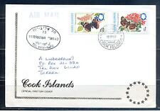 COOK ISLAND 1998, Butterflies, set of 2, FDC (40)
