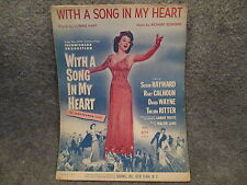 Vintage 1939 Richard Rodgers Lorenz Hart With A Song In My Heart Sheet Music