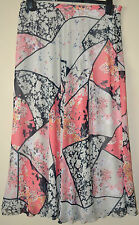 LADIES M&S PER UNA FLORAL PRINT CHIFFON LONG SKIRT A LINE SIZE 14 L33 MULTI BNWT