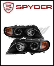 Spyder BMW E46 3-Series 02-05 4DR Projector Headlights 1PC LED Halo Blk