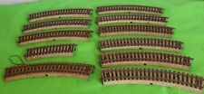 MARKLIN VINTAGE 2 RAIL CURVES LOT OF 10 CURVES PLUS I HALF CURVE