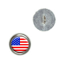 American USA Flag - Patriotic - Metal Craft Sewing Novelty Buttons Set of 4