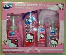 Dial Hello Kitty Gift Collection~5 Piece Bath Set~Body Wash/Hand Soap/Sanitizer