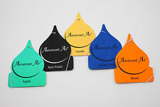 5 x ADVANCED CARDED VARIOUS HANGING CAR AIR FRESHENERS.
