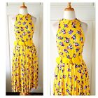 Vintage Dress Mod Swing Peterpan Collar Floral Bright Pinup