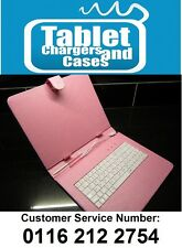 "Pink 9.7"" USB Keyboard Carry Case/Stand for Scroll Extreme Android Tablet PC"