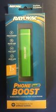 RAYOVAC Phone Boost Emergency Charge for  Cell Phone Rechargeable Hi Vis Green