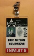 Batman ID Badge- Arkham City Correctional Inmate The Joker  cosplay prop costume