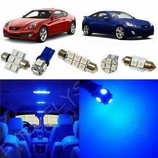 8x Blue LED lights interior package kit 2010 & Up Hyundai Genesis Coupe YG1B