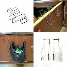 2p Plastic Bag Holder Over Cabinet Door Hang Under Sink Garbage Trash Multi-uses
