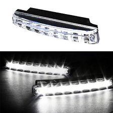 2x 8 LED Tagfahrlicht KFZ Auto Lampe Tagfahrleuchten Positionslicht Weiß DC 12V