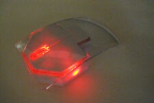 Silent Click Quiet Ultrathin Clear Optical Wireless Red LED Mouse Portable