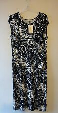 Oasis Palm Leaf Print Ruched Body Con Dress Size 14-16 BNWT RRP £35 UK FREEPOST