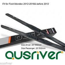 "Fit for Ford Mondeo 2008 09 10 11 12 2014-2016 22""/20"" Windscreen Wipers Blades"