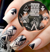 Stamping Nail Art Plate image, 5.6 cm en acier inoxydable modèle Triangle 022