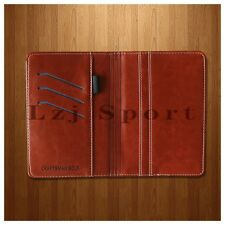 New Brown Synthetic Leather Side-Flip Golf Yardge Book Scorecard Holder Cover