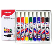 MONAMI Oil-Based Permanent Marker 2.0mm With Case - 8 Colors 1 Set
