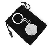 Hallmarked Sterling Silver 1888 Victorian Half Crown Coin Key Ring Keyring