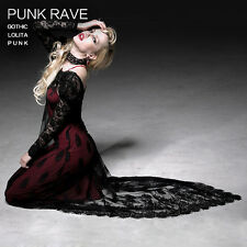 NEW Punk Rave Rock Gothic Black Lace Dress+ Inner Dress ALL STOCK IN AUSTRALIA!