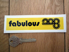 FABULOUS 208 Luxembourg Pirate Radio Classic Car STICKER 60's Autocollant Retro