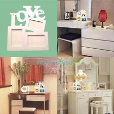 Sweet Love Wooden Photo Frame With 3 Wood Picture Frame Home Decor DIY Gift New