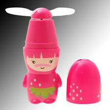 Pink Purple Doll Battery Powered Summer Pocket Personal Mini Fan T1
