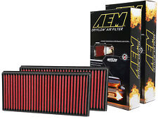 [SET OF 2] AEM 28-20857 STOCK REPLACEMENT WASHABLE REUSABLE PANEL AIR FILTER