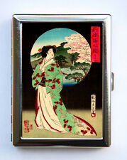 Geisha Cigarette Case Wallet Business Card Holder japanese tattoo woodblock