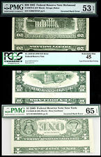 $20,$10,$1-TYPE II UNIQUE SET IN THE WORLD- PMG 53/65-PCGS45 POP 1 NON EXIST