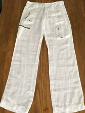 Pete & Greta Johnny Was size 2 Small white slouchy cargo pants CUTE Never Worn