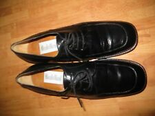 Baldini Made In Italy Mens Black Calf Leather Oxford Dress Shoes Sz 45 / 11 US