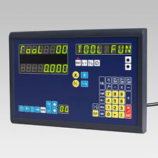 2 AXIS DRO DISPLAY DIGITAL READOUT & 2 LINEAR SCALES FOR MILL LATHE MACHINE