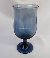 LIBBEY TULIP DUSKY BLUE GLASS WATER GOBLET(S) 6 1/2""