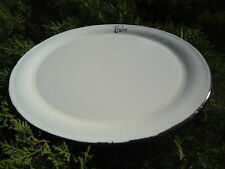 """PLATEAU EMAILLE 35 CM EMAILLE """" Café Belgium Beer """" EMAIL VERITABLE 800°C NEUF"""