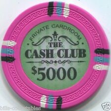 11 color set 13.5 gm THE CASH CLUB 25 cent to $5000 poker chip sample set #239