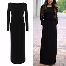 Women Sexy Boho Maxi Dress Summer Long Sleeve Evening Cocktail Party Beach Dress