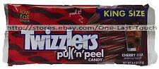 TWIZZLERS 4.2 oz Bag CHERRY COLA Pull 'n Peel KING SIZE Licorice Candy Exp. 6/17