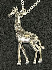 "African Giraffe Medium Charm Tibetan Silver 18"" Necklace A"