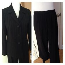 NWT Evan-Picone Women's Black/ White Striped Pant Suit Sz 8