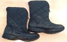Womens C9 Champion Winter Boots Size 8 Faux Fur Lining Quilted Black