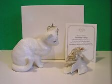 LENOX FASCINATING LADYBUG 2 Piece CAT set NEW in Box w/COA