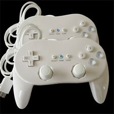 New 2 X Classic Wired Controller Pro For Nintendo Wii &Wii U Remote White