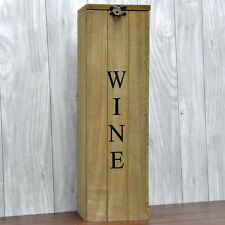 Shabby Chic Vintage Rustic Style Wooden Wine Box Holder Carrier Gift Storage
