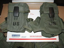 2 GENUINE USGI MILITARY AMMO POUCHES 3x30 STYLE OD GREEN USED EXCELLENT COND.