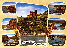 Gruß von der Loreley ; Ansichtskarte 1991 gel.