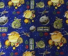 Star Wars FABRIC BLUE COTTON QUILTING FABRIC NEW BTY STAR WARS ANGRY BIRDS