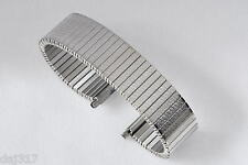 17mm - 22mm STAINLESS STEEL FIXO FLEX STYLE EXPANDING WATCH BRACELET. B9001