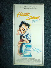 PRIVATE SCHOOL FOR GIRLS Original 1980s DB Movie Poster Sexy Phoebe Cates