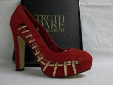 Truth Or Dare By Madonna Size 9 M Ditsobotla Red Leather Pumps New Womens Shoes