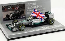 F1 1/43 MERCEDES GP W05 HAMILTON WIN ABU DHABI GP WORLD CHAMPION 2014 MINICHAMPS